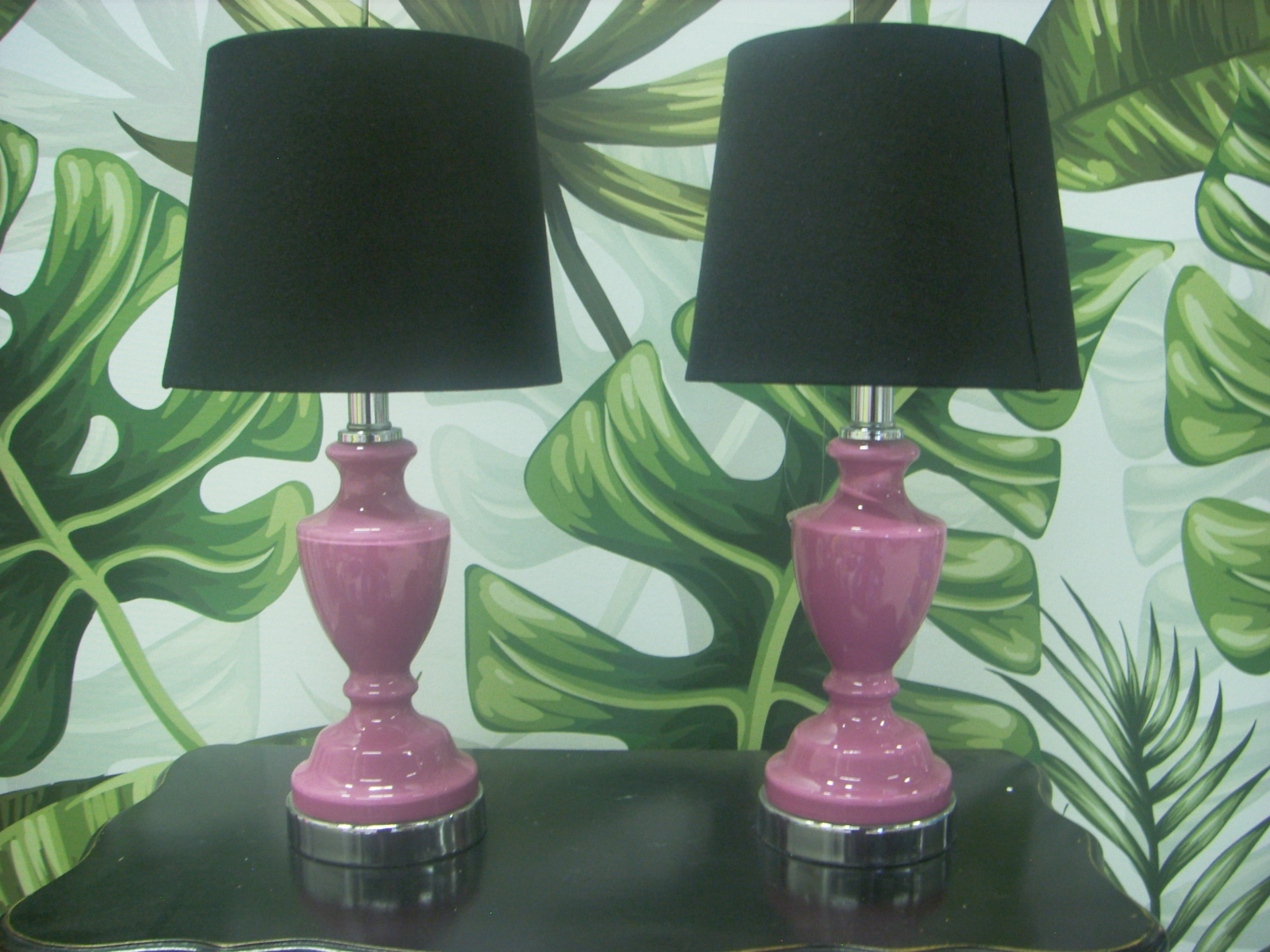 Bedside Lamp Set Of 2 Linen Lifestyle