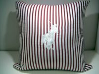 PANAMA WHITE POLO CUSHION RED