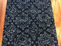 navy wool rug