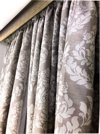 Lined Taped Curtains - Taupe
