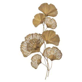 Fan leaf gold wall art