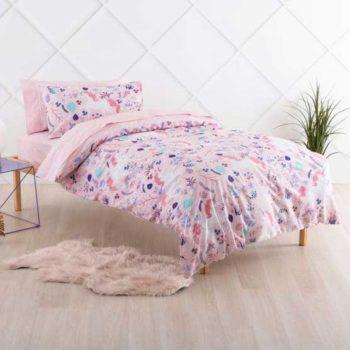 Linen House Duvet Cover set Unicorn Garden